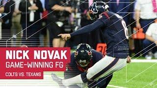 Jaelen Strong's Crazy Catch & Novak's Game-Winning FG in OT! | Colts vs. Texans | NFL