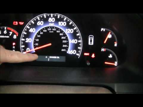 How to reset the 2009 Honda Odyssey Maintenance Light