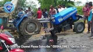 Pickup Van And Tractor Accident @ Koksara