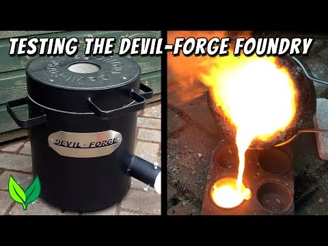 Devil-Forge foundry put to the test in a bronze & aluminium metal melt off