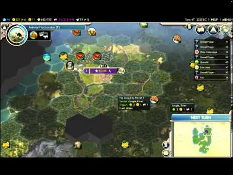 Let's Play Civ 5! - Rome, Augustus Caesar (part 3)