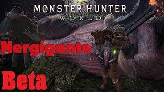 Monster Hunter: World Beta Nergigante Hunt 4 man Co-Op Hunt Gunlance Gameplay