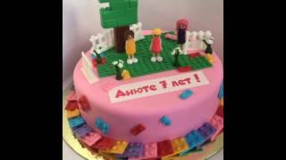 видео Торт девочка с игрушками