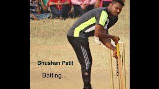 Bhushan Patil Bating in Gavdevi  Chashak 2014 (navi Mumbai Tennis Cricket)