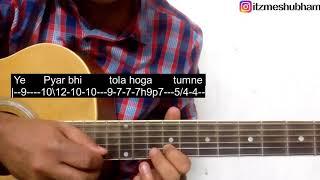 Tera Ghata (Single String) Guitar Tabs Tutorial | Gajendra Verma | Shubham Joshi