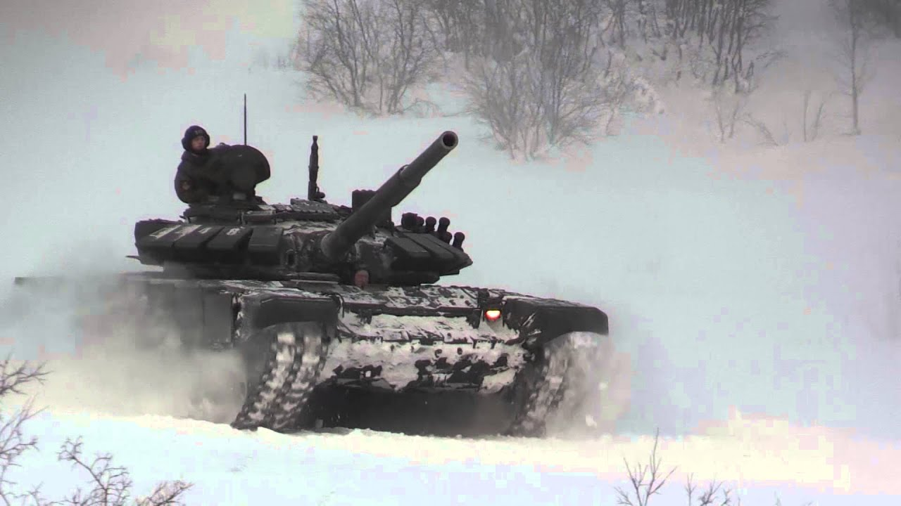 Training hard: russian tanks get ready for biathlon battle