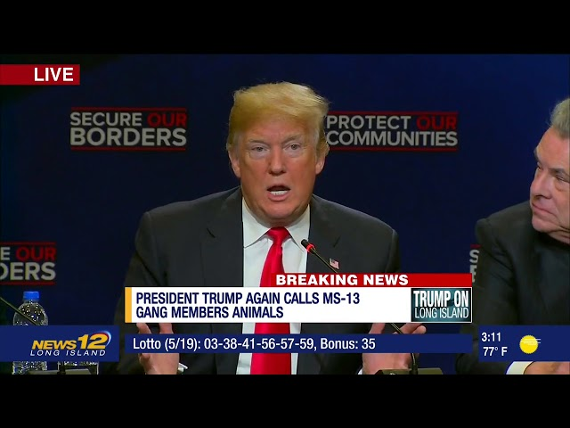 Police official accidentally debunks Trump's MS-13 rant with