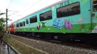 8798次試運轉列車通過大林鎮中興路地下道