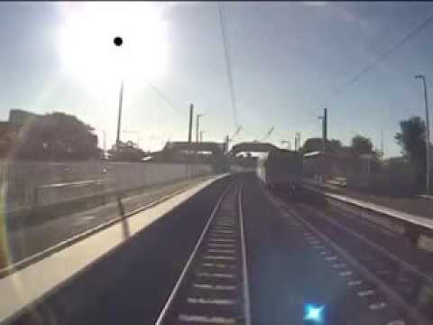 DEATH CHEATED on CCTV  Man's INCREDIBLE near miss with train on level crossing (accident)