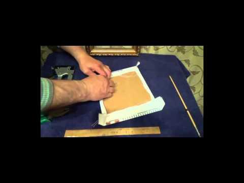 Мастер класс по оформлению вышивки бисером в рамку -икона Божья Матерь Казанская