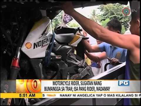 Motorcycle rider sugatan sa aksidente sa CamSur