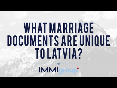 What Marriage Documents are Unique to Latvia?
