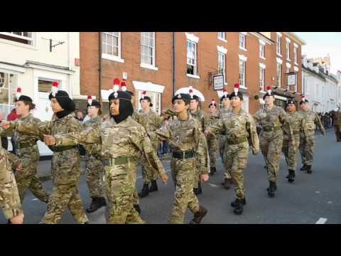Warwick u.k.last Fusiliers parade DSCN0288