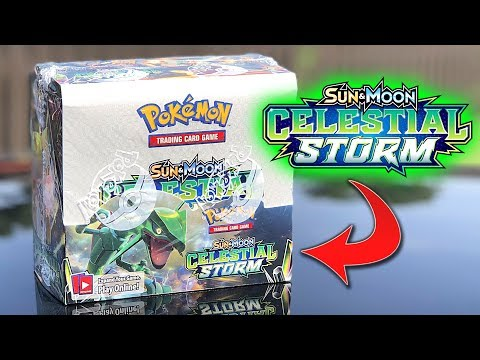 POKEMON CARDS CELESTIAL STORM BOOSTER BOX OPENING!  English