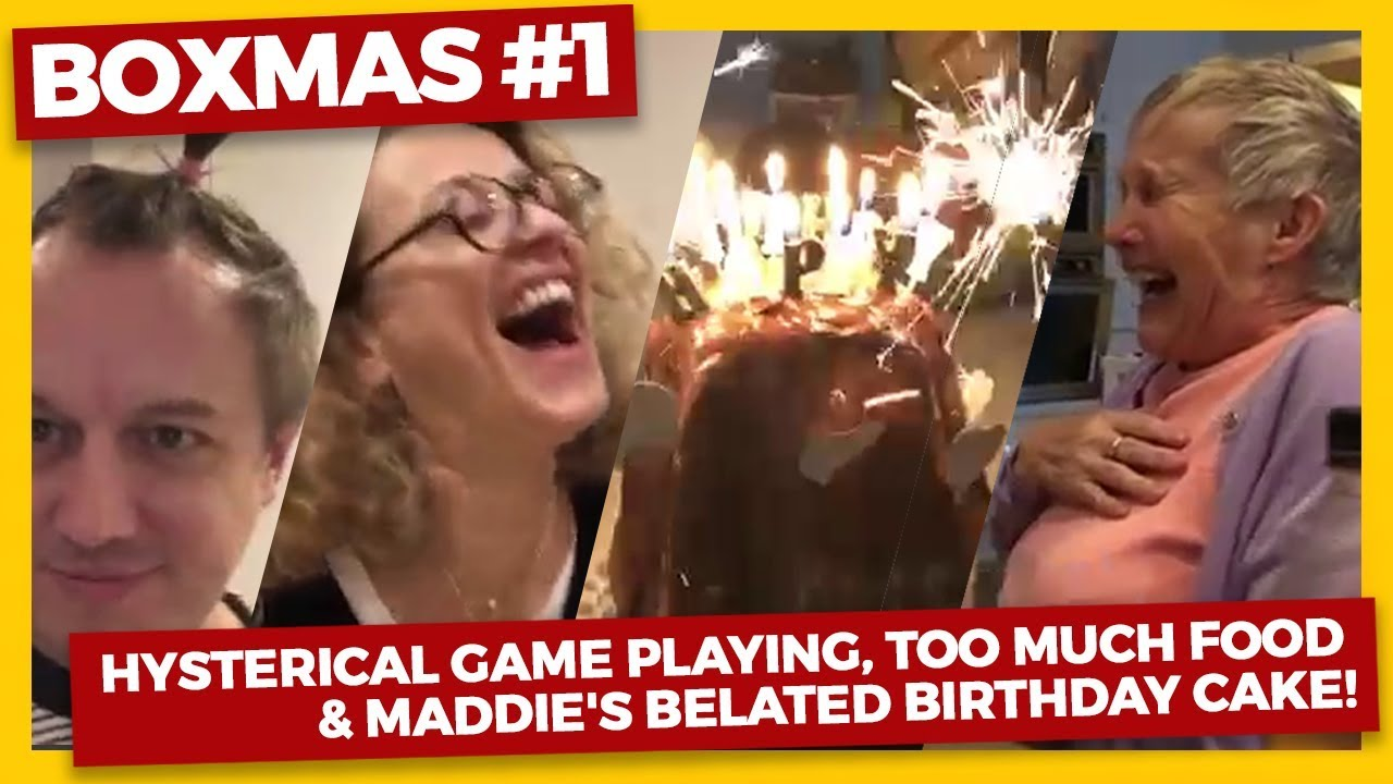 a9eb7c9daef61 Boxing Day Vlog (2018) Hysterical GAME PLAYING, TOO much FOOD & Maddie's  BELATED BIRTHDAY CAKE!