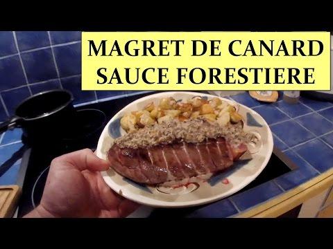 magret-de-canard-sauce-forestière-et-pomme-de-terre-sautée-à-l'ail-hd-1080p-fr
