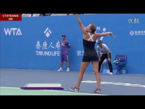 Sharapova VS Bacsinszky Highlight Wuhan 2014