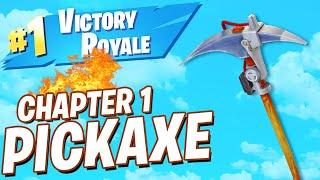 UNLOCKED Fortnite Chapter 1 DEFAULT PICKAXE! (Fortnite Battle Royale LIVE)