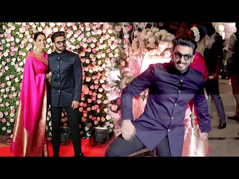 Ranveer Singh's CRAZY* Entry With Wife Deepika Padukone At Kapil Sharma's WEDDING Reception