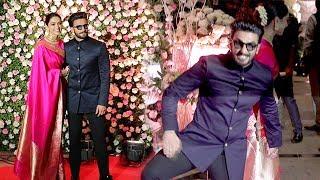 Ranveer Singh's CRAZY* Entry With Wife Deepika Padukone At Kapil Sharma's WEDDING Reception