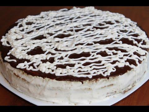 Банановый торт со сметанным кремом. (Banana cake)