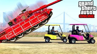 GTA 5 - SURVIVE THE TANK CHALLENGE (GTA Online Funny Moments & Fails)