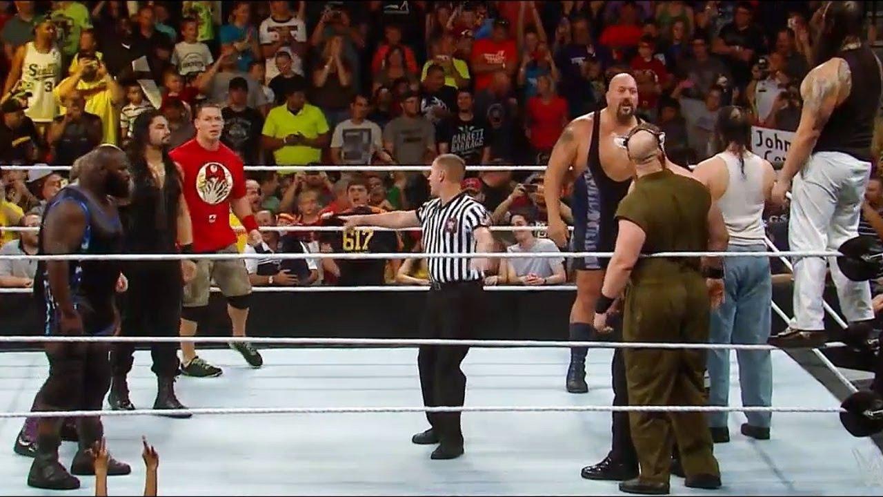 10 Man tag team Match WWE Smackdown