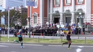 大阪マラソン2015 応援 10月25日(日)大阪市中央公会堂前にて.