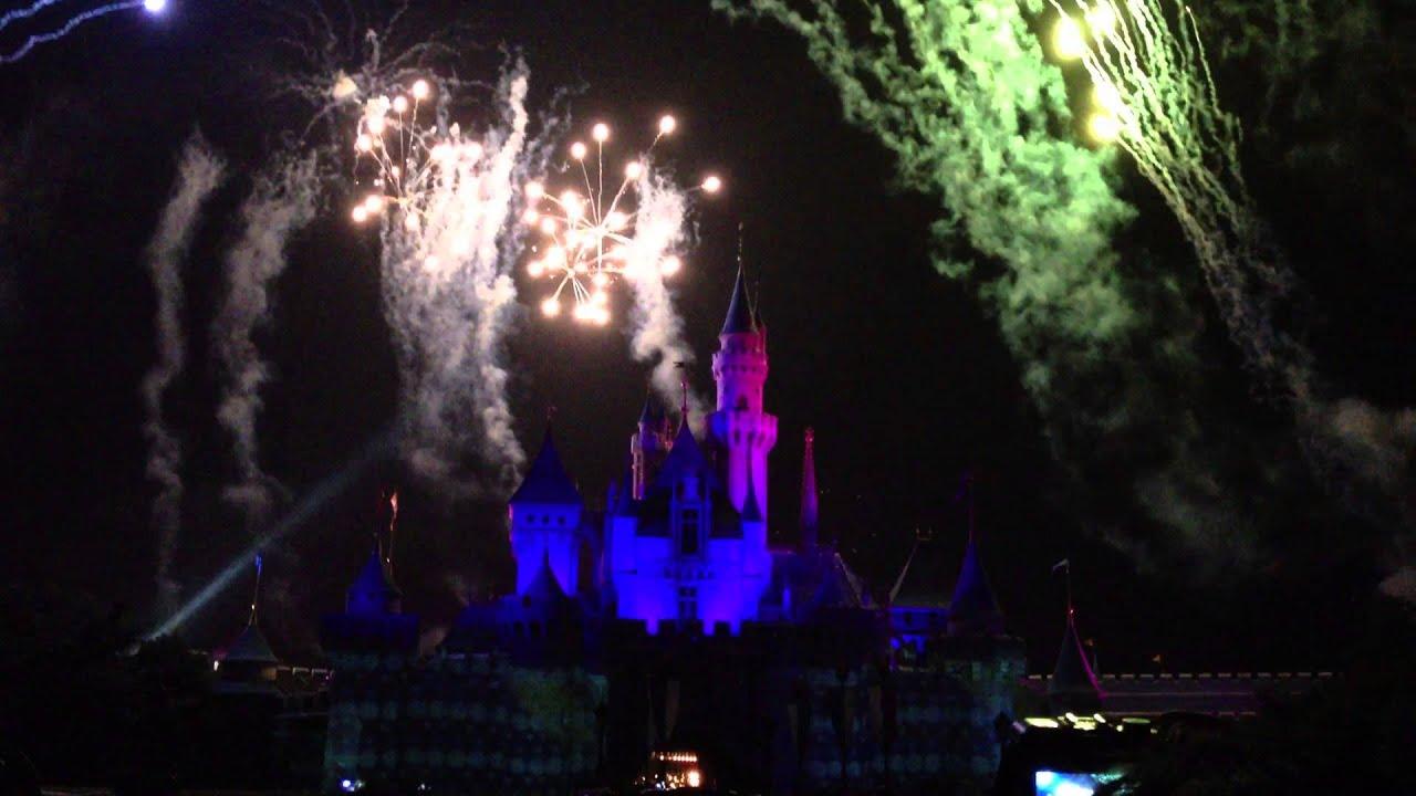 Hong Kong Disneyland Fireworks Beauty And The Beast 2013 Youtube
