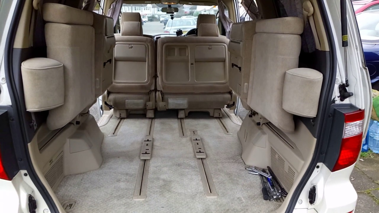 How to fold Chairs or Seats in Toyota Alphard Vellfire 1
