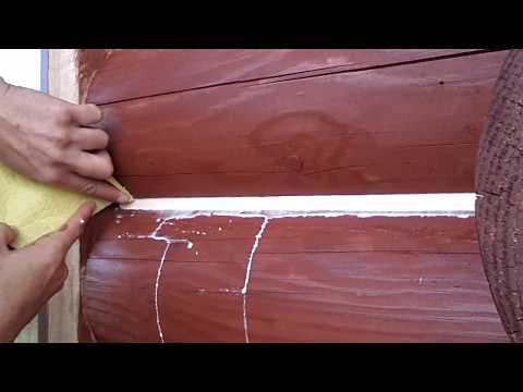 Теплый шов деревянного дома. Экономный способ