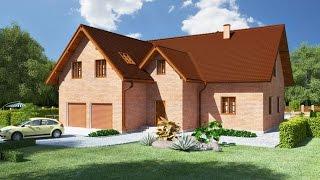 Проекты загородного дома с двумя гаражами