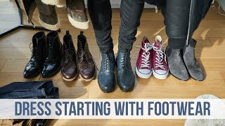 How to Build an Outfit From the Feet Up | Dressing Chelsea Boots, Dress Boots, Sneakers