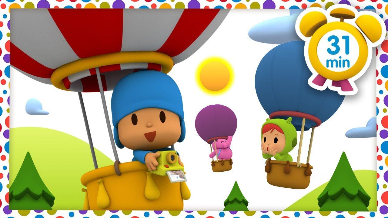 🎈 ぽこよ日本語 l Pocoyo Japanese l  熱気球に乗って(31分)全話 子どものためのアニメ動画