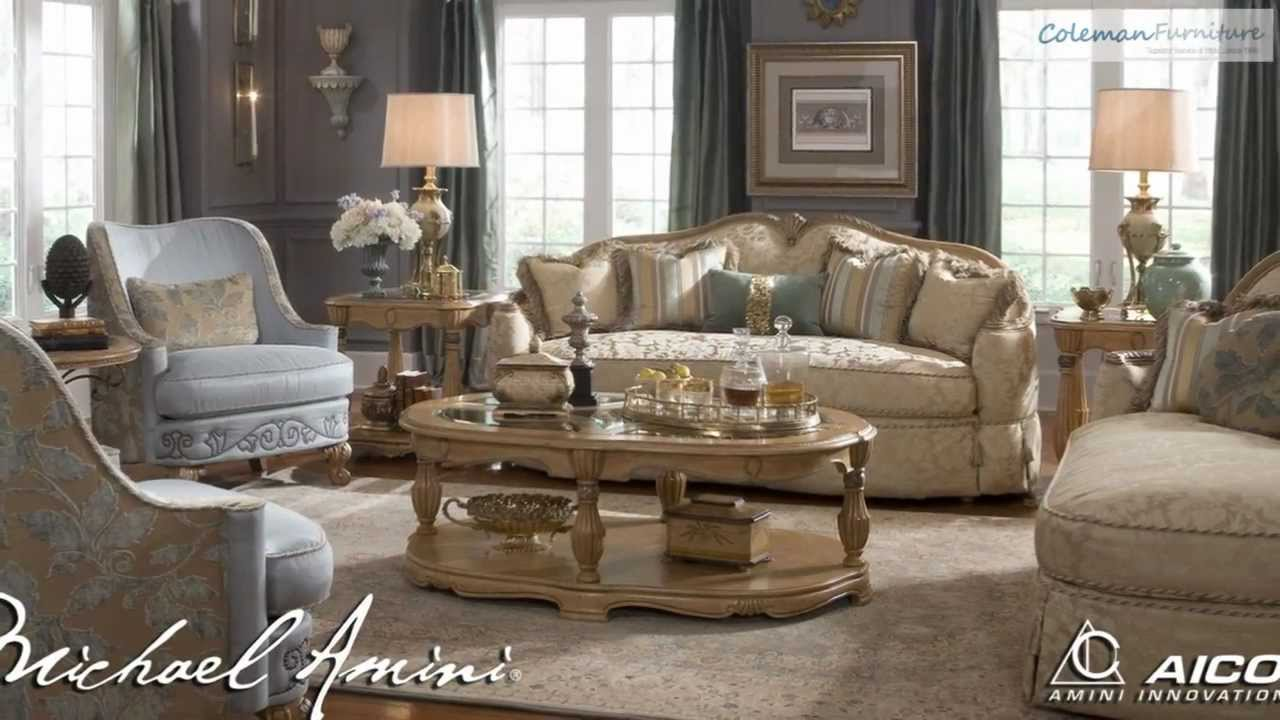 Michael Amini Living Room Furniture Grande Aristocrat Living Room Collection From Aico Furniture Youtube