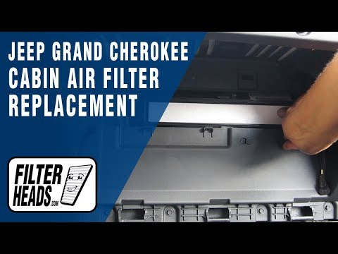 How to replace cabin air filter jeep grand cherokee youtube for Interieur filter