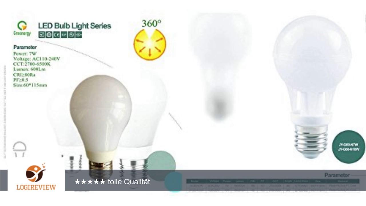 LED Lampe ersetzt 60W E27-Sockel 2700-6500 Kelvin warmweiß 10W 800 ...