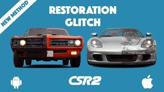 CSR2 Restoration Glitch | Best Glitch | 1000% Working | New Easy Method | CSR RACING 2
