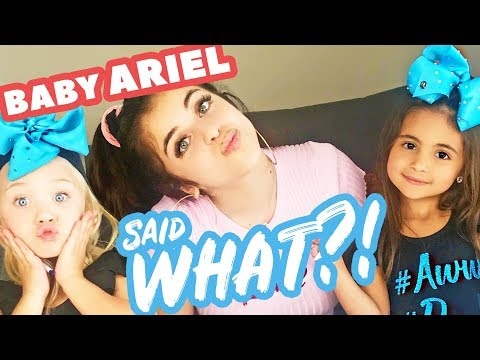 EVERLEIGH AND AVA SING WITH BABY ARIEL! (ONLY 5 YEARS OLD!)