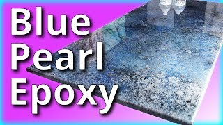 Blue Pearl Epoxy | Stone Coat Countertops