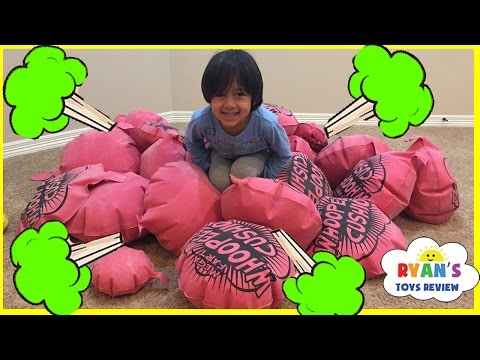 Thumbnail: GIANT WHOOPEE CUSHION FART Challenge! Toys For Kids! Family Fun Children Activities Ryan ToysReview