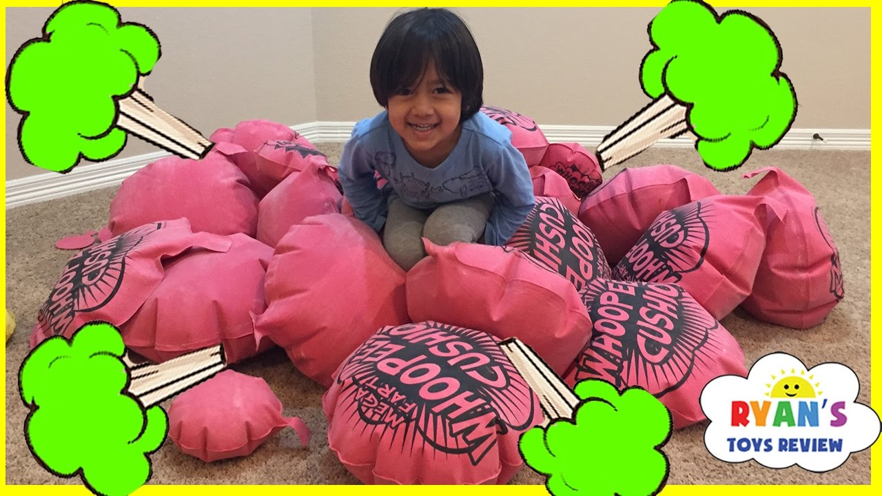 GIANT WHOOPEE CUSHION Toys for kids with Ryan - YouTube