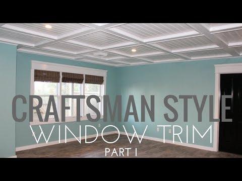 Diy Craftsman Style Window Trim Extremely Detailed