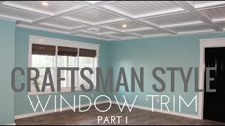 Diy Craftsman Style Window Trim, Extremely Detailed Version....