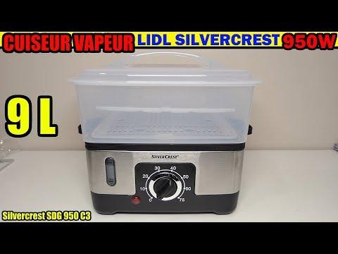 cuiseur-vapeur-lidl-silvecrest-sdg-950-c3-déballage-steamer-dampfgarer-vaporiera-elettrica