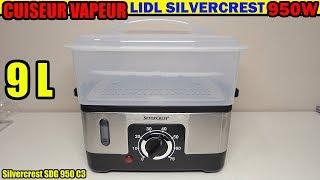 пароварка LIDL SILVECREST SDG 950 C3 розпакування Steamer Dampfgarer Vaporiera elettrica