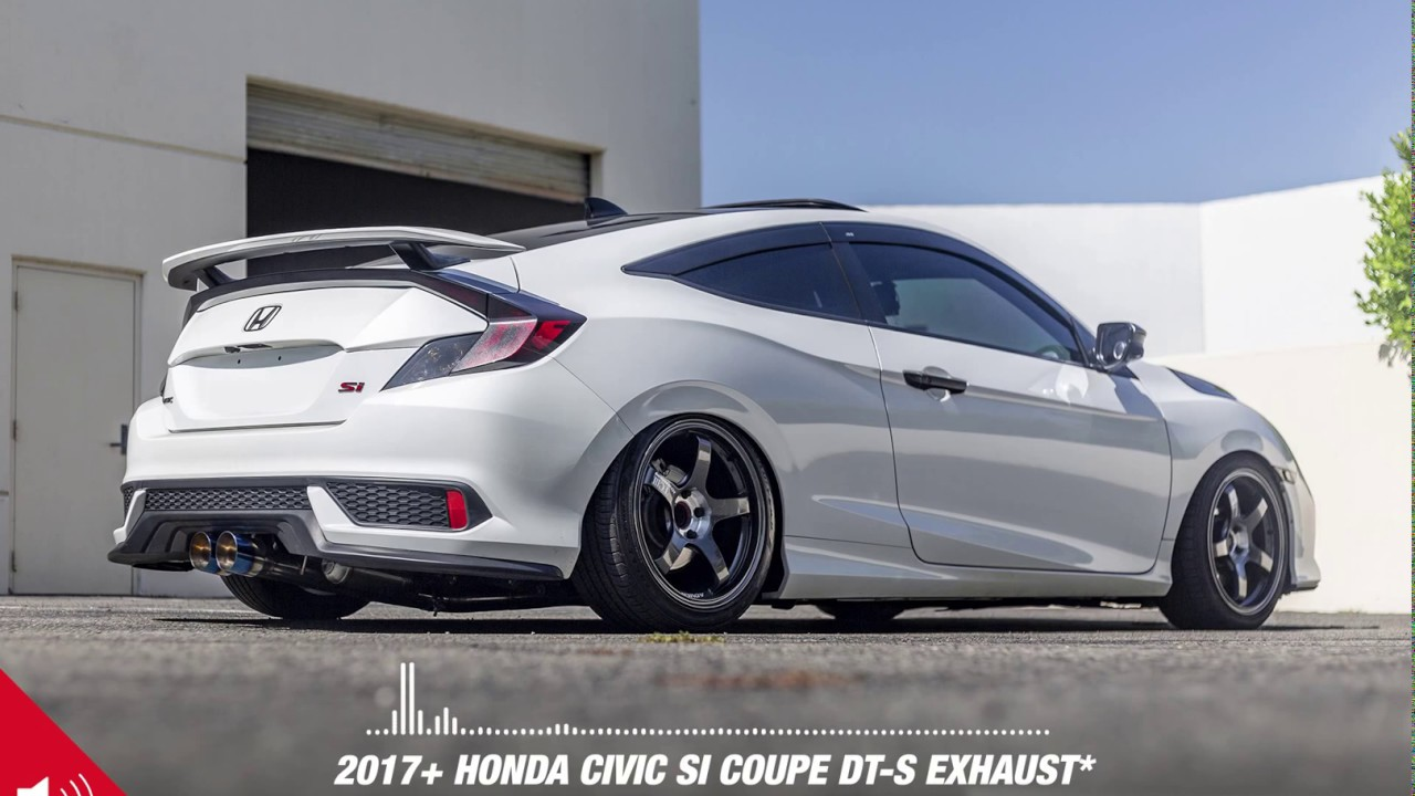 2017 civic si coupe with ark performance dt s exhaust audio spectrum
