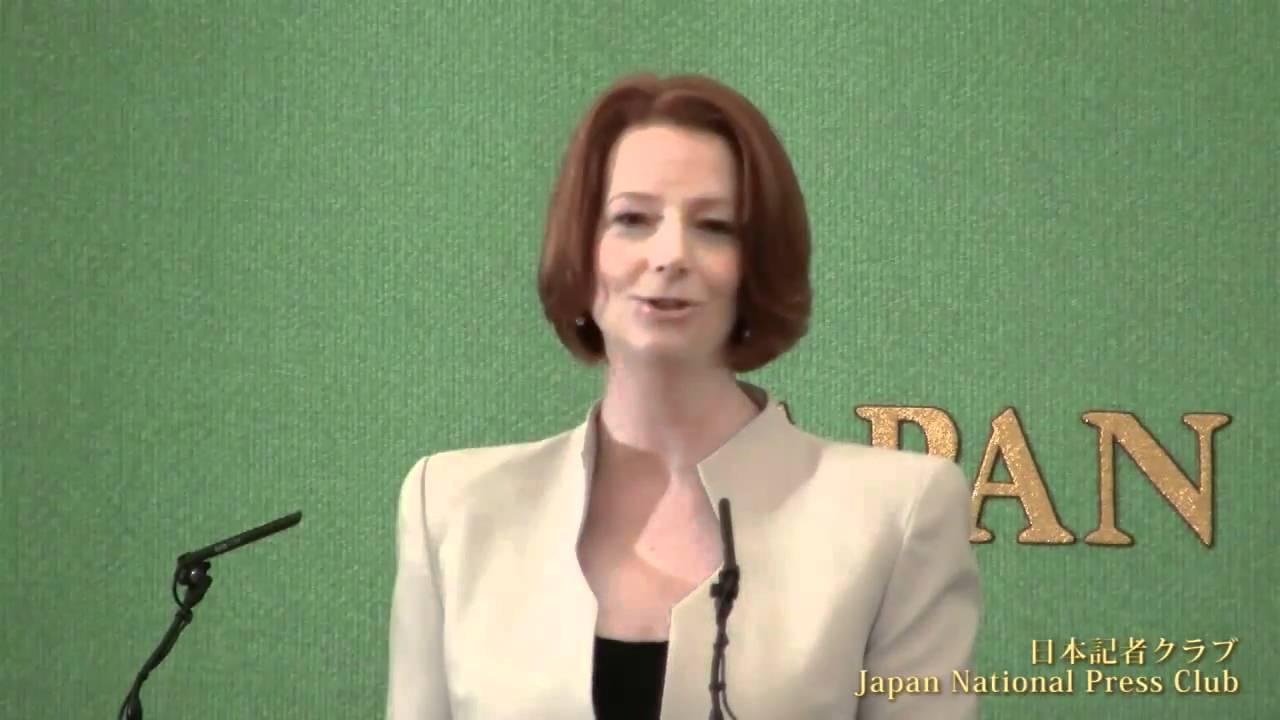 ギラード・オーストラリア首相 2011.4.22 - YouTube