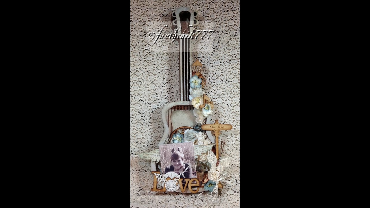 Altered Shabby Chic Shadow Box GDT Project for SaCrafters ...