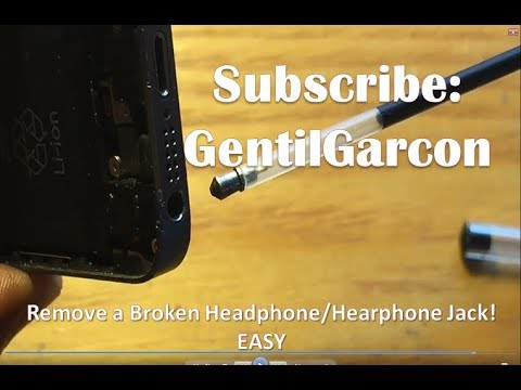 how to remove a broken headphone jack easy youtube. Black Bedroom Furniture Sets. Home Design Ideas